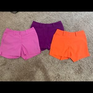 3 Nike DriFit Golf Shorts